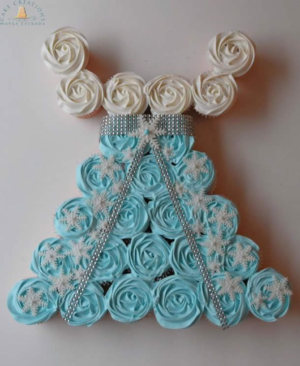 cupcake-frozen-bolo-vestido