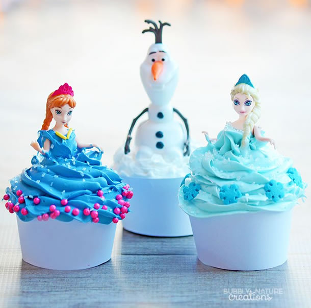 cupcake-frozen-bonecas