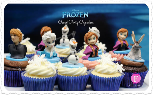 cupcake-frozen-bonecos