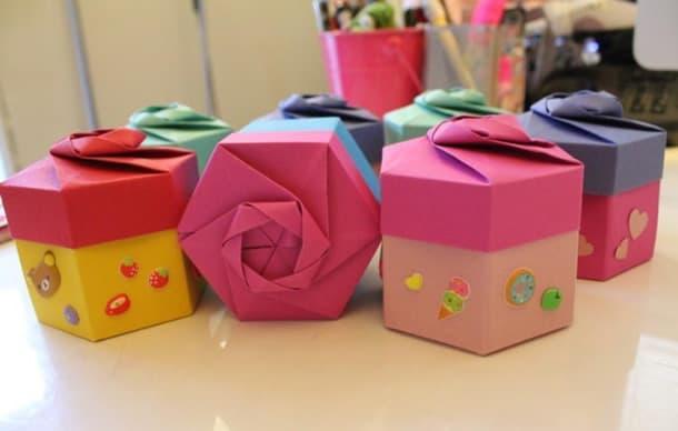 como-fazer-caixa-presente-hexagonal