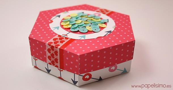 como-fazer-caixa-presente-hexagono