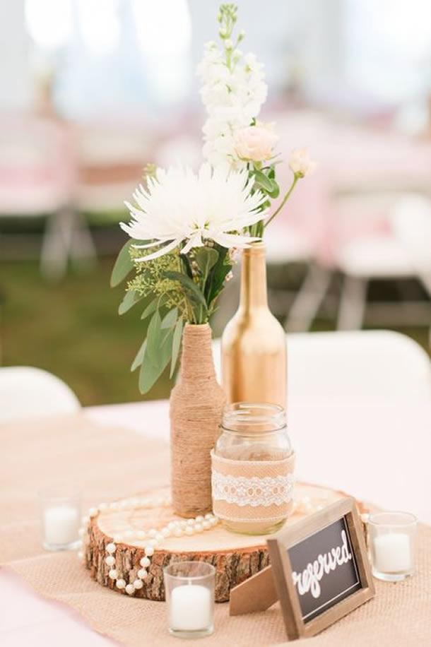 centro-de-mesa-para-casamento-garrafa-pintadas