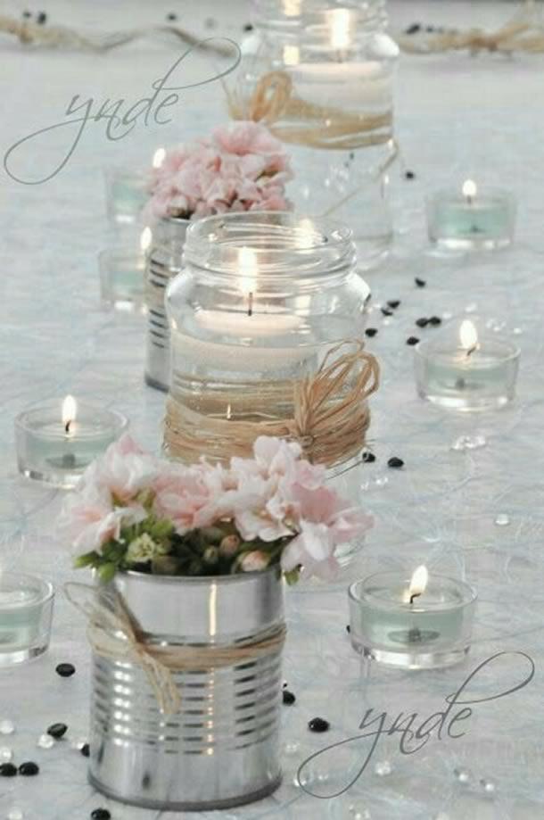 centro-de-mesa-para-casamento-pote-velas
