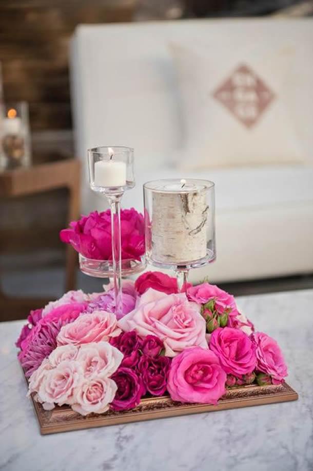 centro-de-mesa-para-casamento-rosas-velas