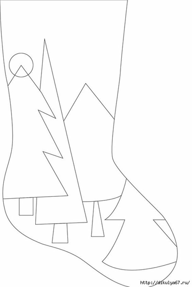 meias-de-natal-molde-pinheiros