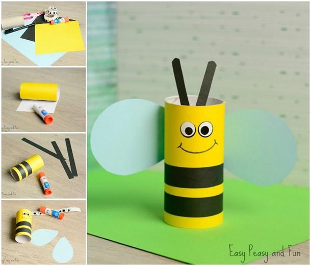 animais-de-papel-abelha-rolo