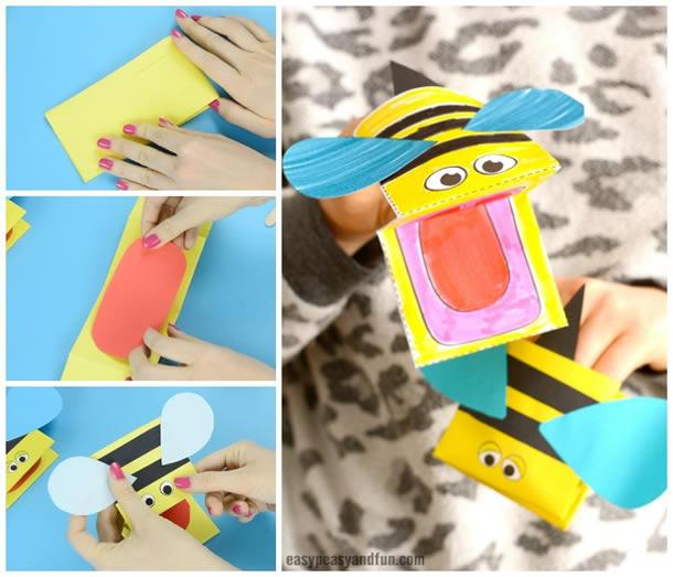 animais-de-papel-fantoche-abelha
