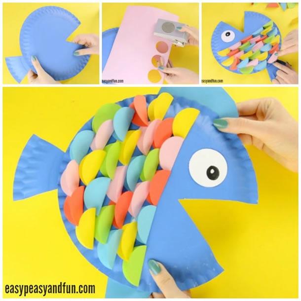 animais-de-papel-peixe-prato