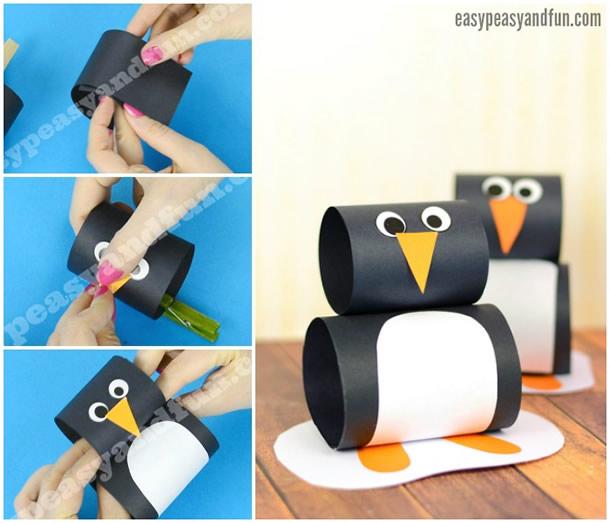 animais-de-papel-pinguim-rolos