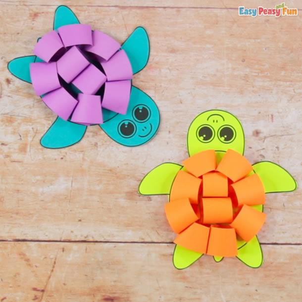 animais-de-papel-tartaruga-rolinhos
