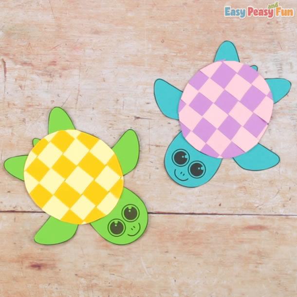 animais-de-papel-tartaruga-xadrez