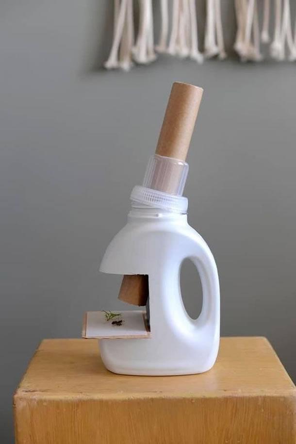 artesanato-com-garrafas-de-amaciante-microscopio