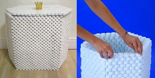 artesanatos-com-tampinhas-cesto
