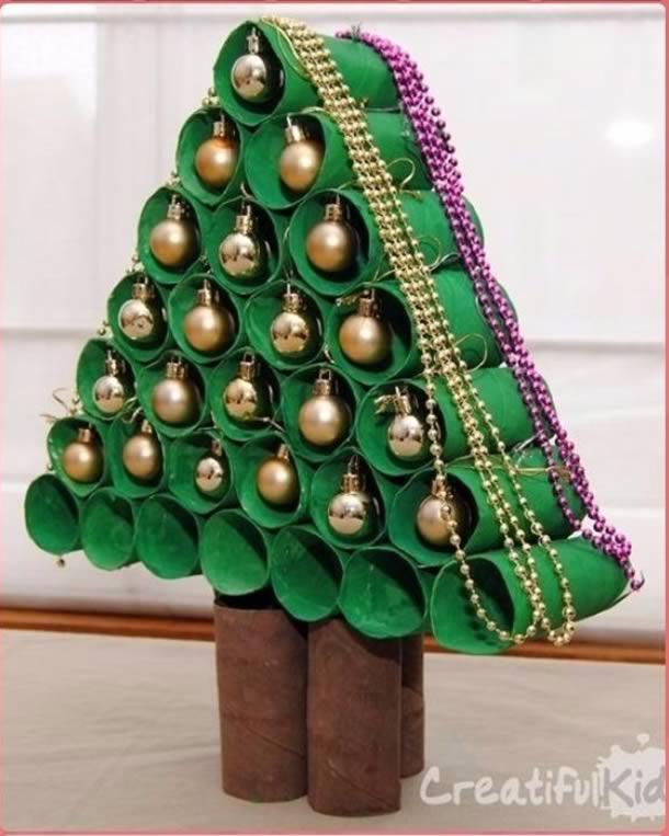 decoracao-de-natal-simples-arvore-rolos