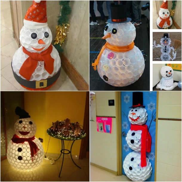 decoracao-de-natal-simples-boneco-copos-plastico