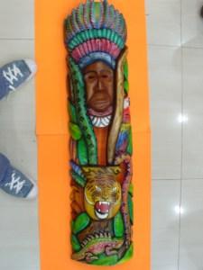 MASCARA TALLADA EN SAUCE VISIONES DEL YAGE 1,13m X  28 cm $240.000 (4)