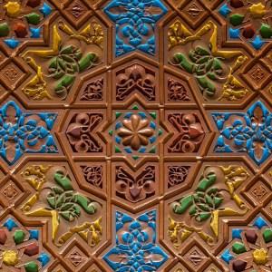 Techo árabe pintado