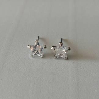 Pendientes estrellas brillantes de Plata