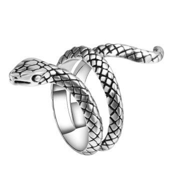 Anillo de serpiente de la personalidad estereoscópico anillo ajustable