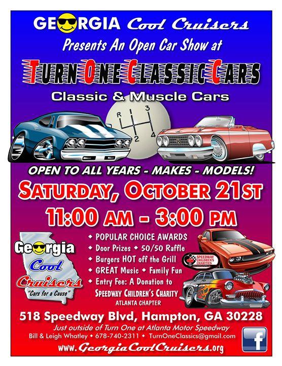 Open Car Show At Turn One Classics Presented By GA Cool Cruisers - Car show atlanta ga