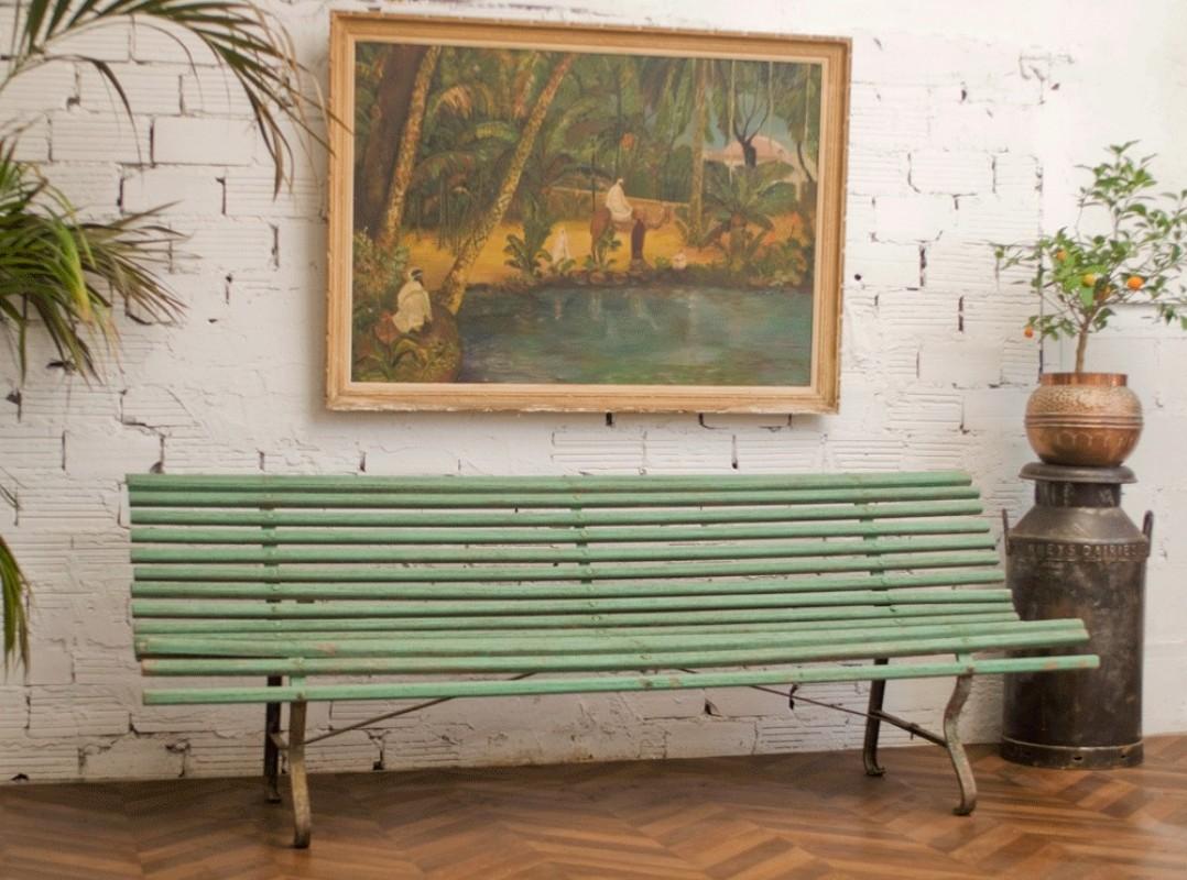 Banc De Jardin Ancien En Bois Banc Fer Maison Unique Banc