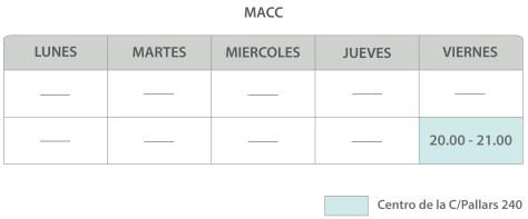 Horarios clases artes marciales barcelona