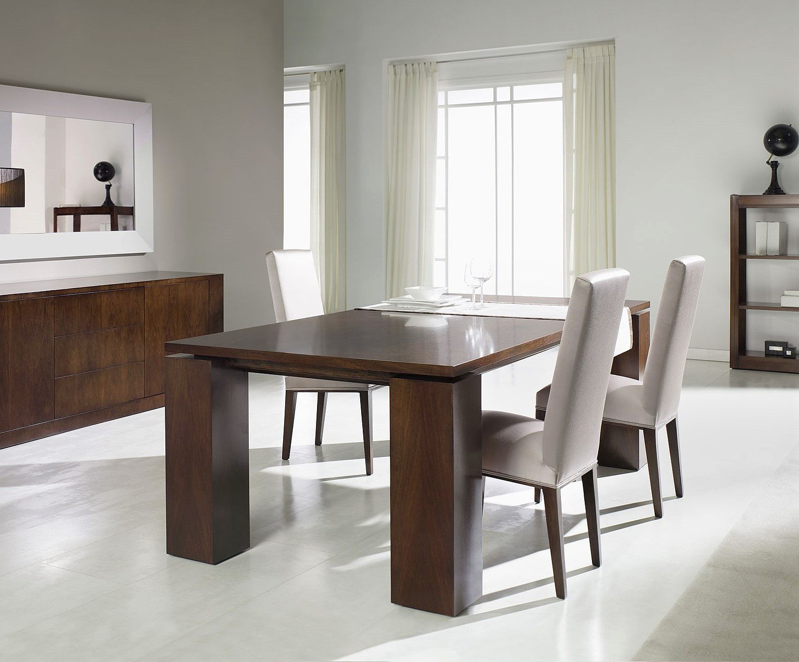 Contemporary Extendable Dining Table T 851