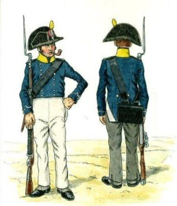 tirailleurs-federes-de-paris1815-aquarelle-originale-de-bernard-coppens