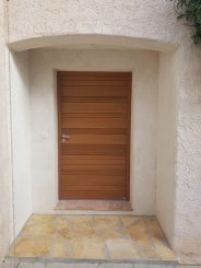 porte d'entrée moderne alu effet bois