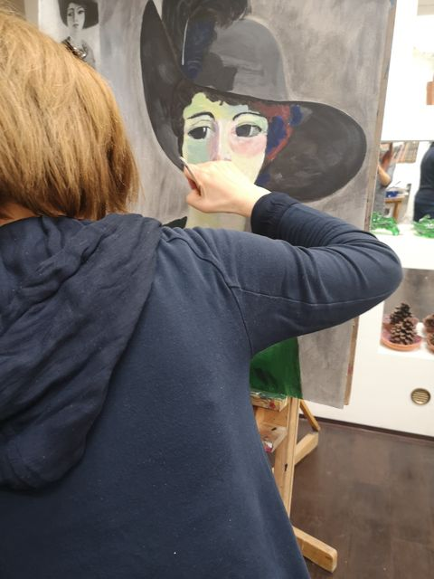 Pri maľbe