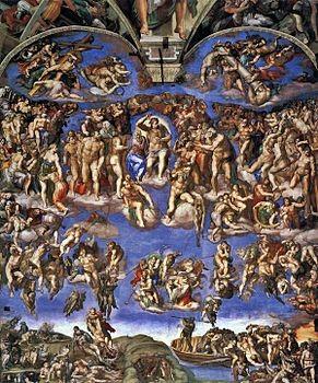 Giudizio_Universale Cappella Sistina Michelangelo Buonarroti 1508-1512