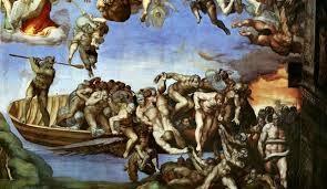 Particolare di Caronte Cappella Sistina Michelangelo Buonarroti