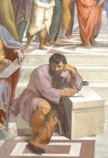 Particolare della Scuola Di ATene Rappresenta Michelangelo Buonarroti visto da Raffaello Raffaello Sanzio