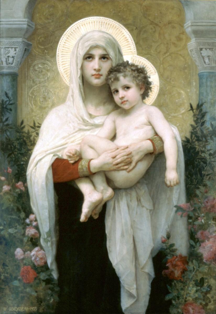 La Madonna delle Rose William A. Bouguereau 1903