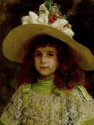Ritratto di bambina Jean André Rixens 1892