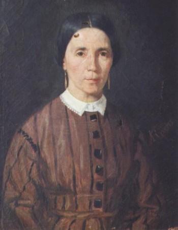 Ritratto della madre dell'artista Jean André Rixens 1885