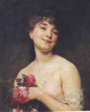 Ritratto di Mademoiselle Delagrange Jean André Rixens 1884