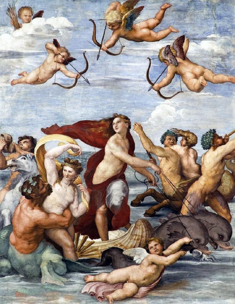 Trionfo di Galatea Raffaello Sanzio 1512