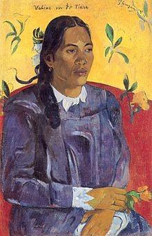 Donna con un fiore Paul Gauguin 1891