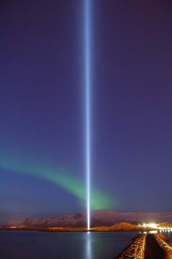 Imagine Peace Tower Yoko Ono Reykjavik