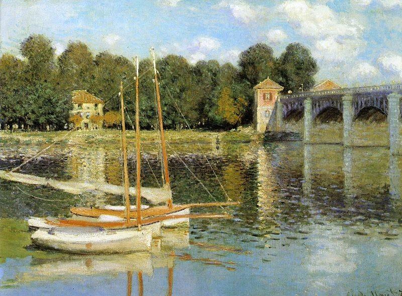 Porto di Argenteuil Claude Monet 1874