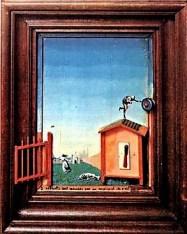 Deux enfants sont menacés par un roussignol Max Ernst 1924