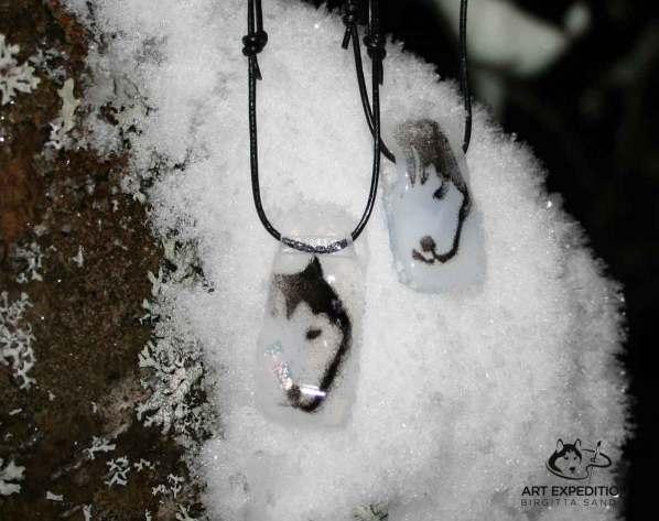 Halsband: Husky vit