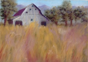 Barn in the Field by Carolyn Molder Art