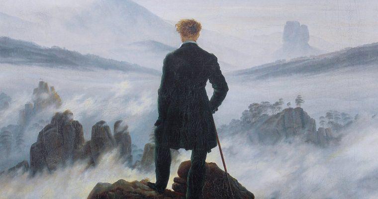 El caminante sobre el mar de nubes. Caspar David Friedrich.