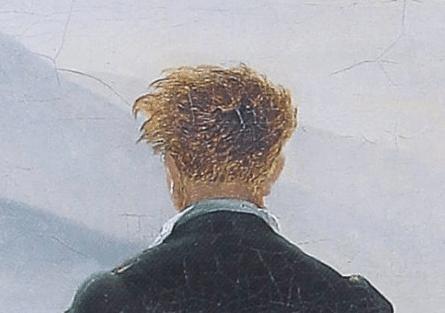 El caminante sobre el mar de nubes. Caspar David Friedrich