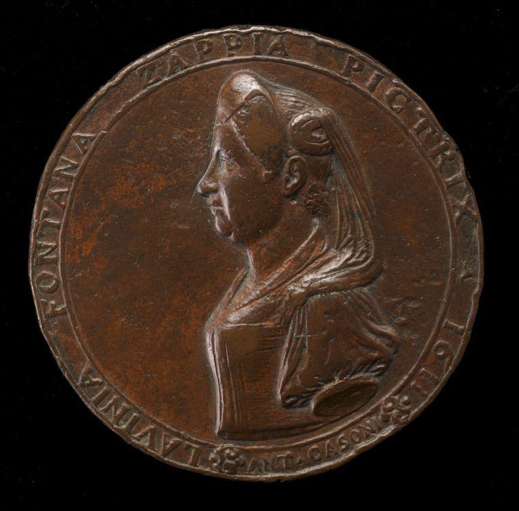 Lavinia Fontana. Moneda acuñada en su honor.