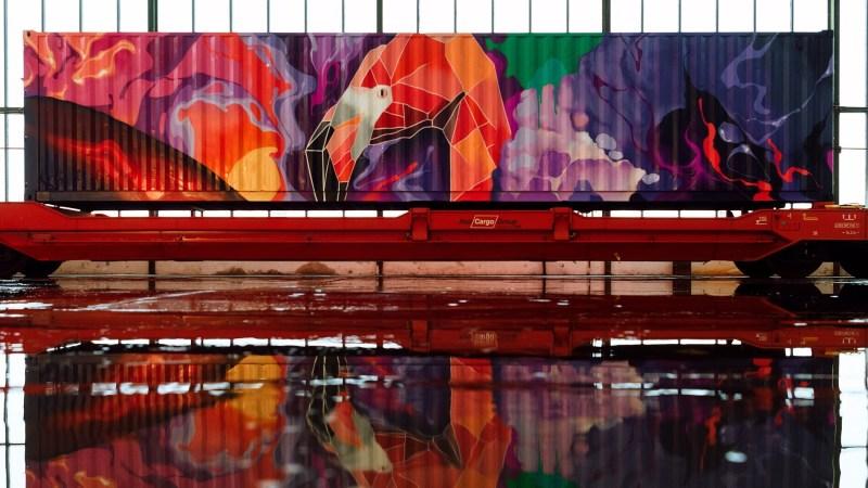 El Tren de Noé llega a Madrid.Arte en movimiento por el clima.