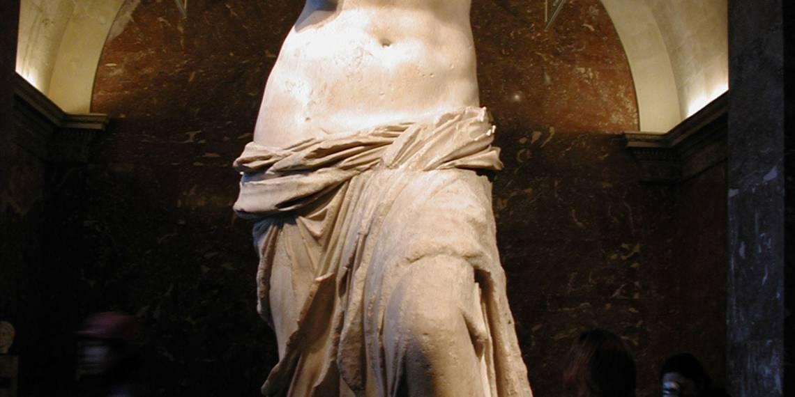 Venus de Milo. El ideal de belleza de la diosa del amor.