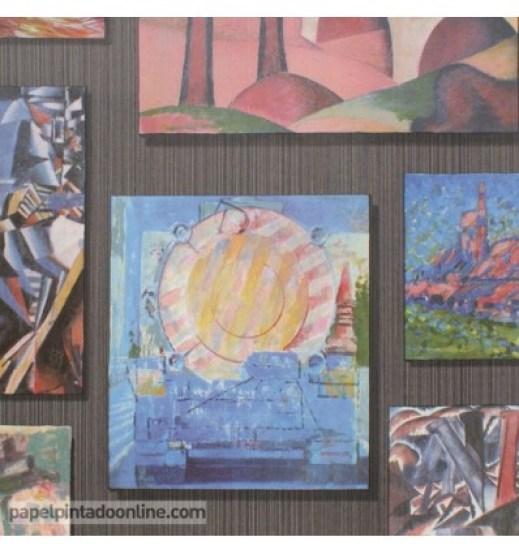 Arte en Papel pintado. Arte efímero y cambiante en tus paredes.